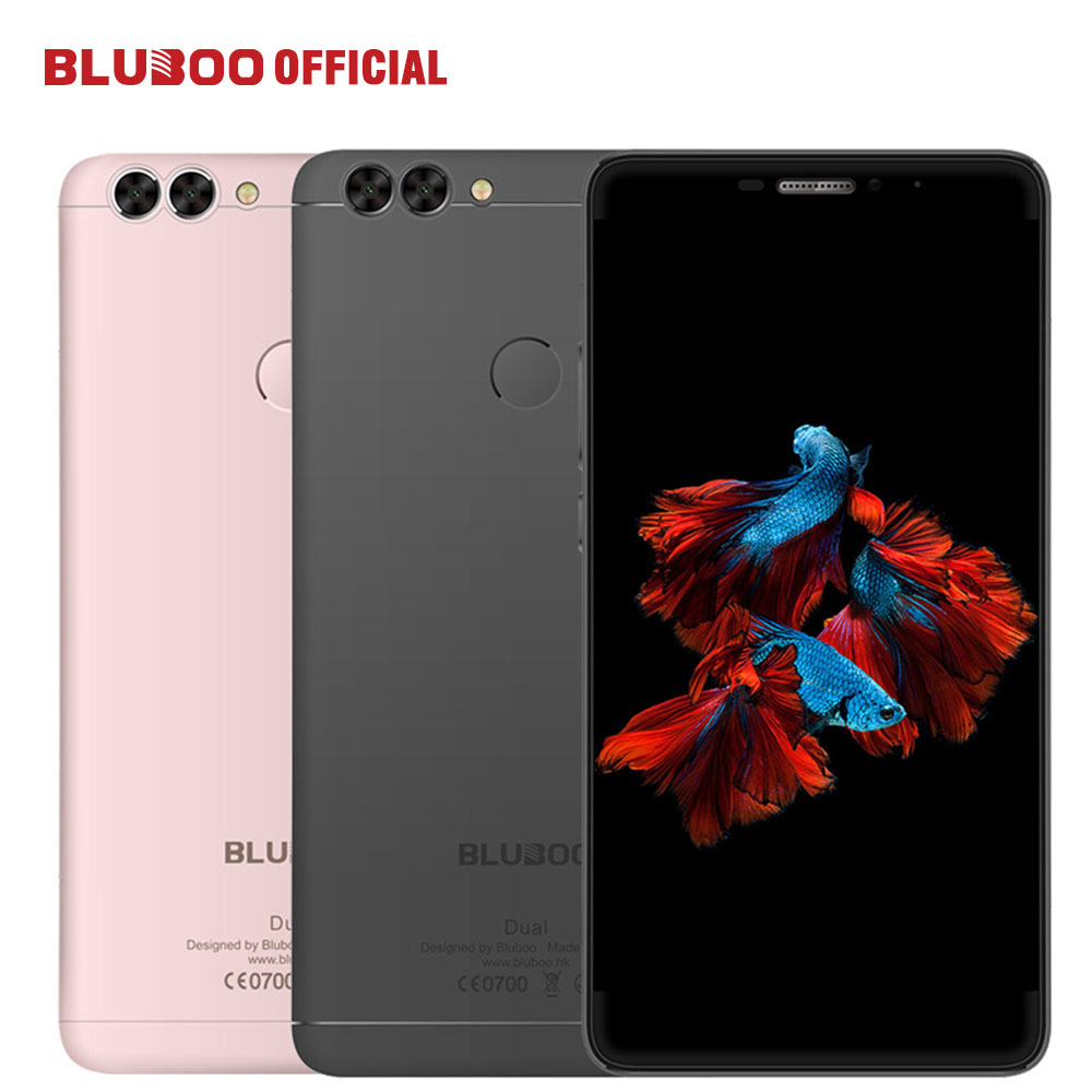 """bilder für Bluboo dual 5,5 """"FHD Dual Zurück Kamera 4G LTE handy MTK6737T Quad Core 2G RAM 16G ROM 13MP Android 6.0 3000 mAh Mobile telefon"""