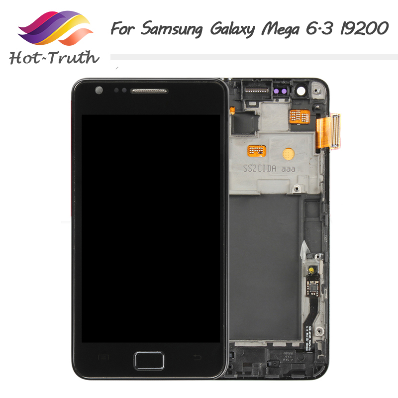 For <font><b>SAMSUNG</b></font> Galaxy Mega 6.3 <font><b>i9200</b></font> i9205 LCD Display Touch Screen Digitizer Parts for <font><b>Samsung</b></font> galaxy mega 6.3 lcd screen image