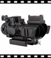 סיבי באיכות גבוהה הטקטית 4X32 היקף רובה Sight & מואר טווח שברון Recticle חדש עבור 20 מ