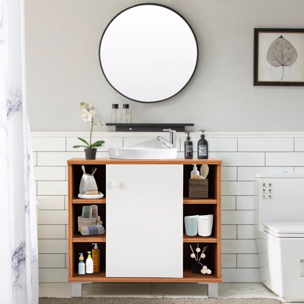Giantex Under Sink Cabinet Bathroom Spacesaver Storage Cabinet 6 Cube Vanity Organizer Modern Bathroom Furniture BA7403 3