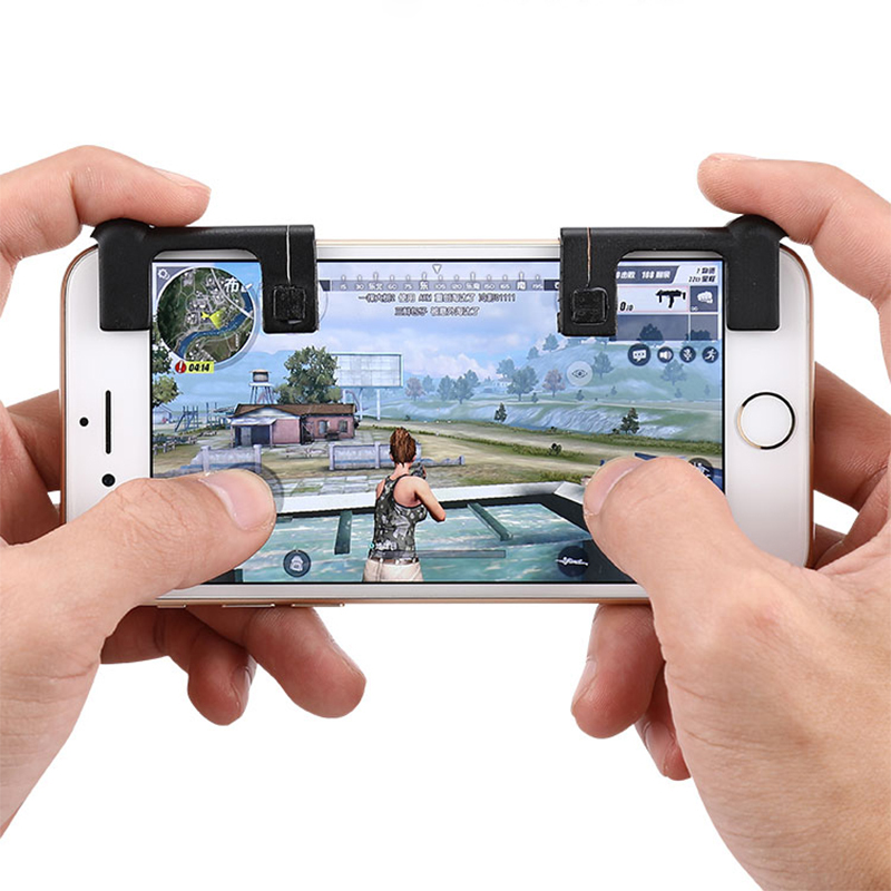 New 2Pcs Mini Gamepad Button For PUBG FPS STG TPS Mobile Phone Shooting Shootout Game Physical Joysticks Assist Tools Adapter