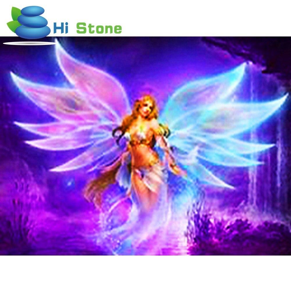 Новый Полный Круглый дрель 5D DIY алмазов картина мультфильм Цветочная фея с крыльями 3D Вышивка крестом мозаика декор подарок
