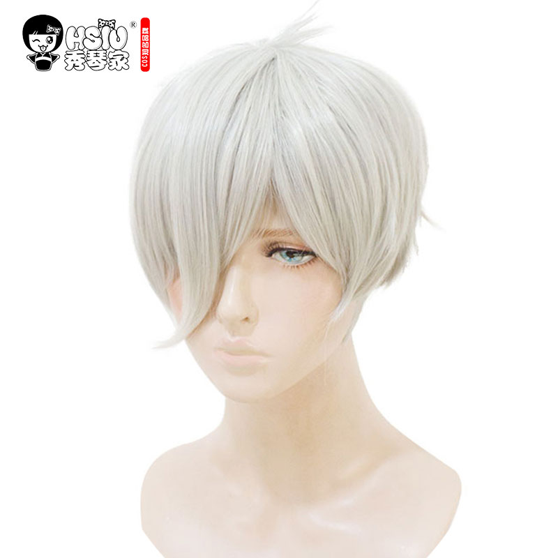 HSIU Hoseki No Kuni Cosplay Wig Antarcticite Land Of The Lustrous Costume Play Woman Adult Wigs Halloween Anime Game Hair Wig
