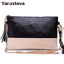 Genuine Leather Tassel Handbags 2018   Crocodile Shoulder Bags Messenger Bag Day Clutch Chain Bag Small Women's Clutches MU-923