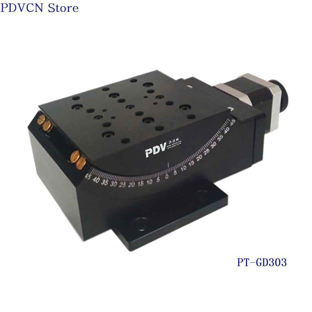 z axis PT-GD303 Motorized Goniometer Stage, Electric Goniometer Platform, Rotation Range: +/- 45 degreez axis PT-GD303 Motorized Goniometer Stage, Electric Goniometer Platform, Rotation Range: +/- 45 degree