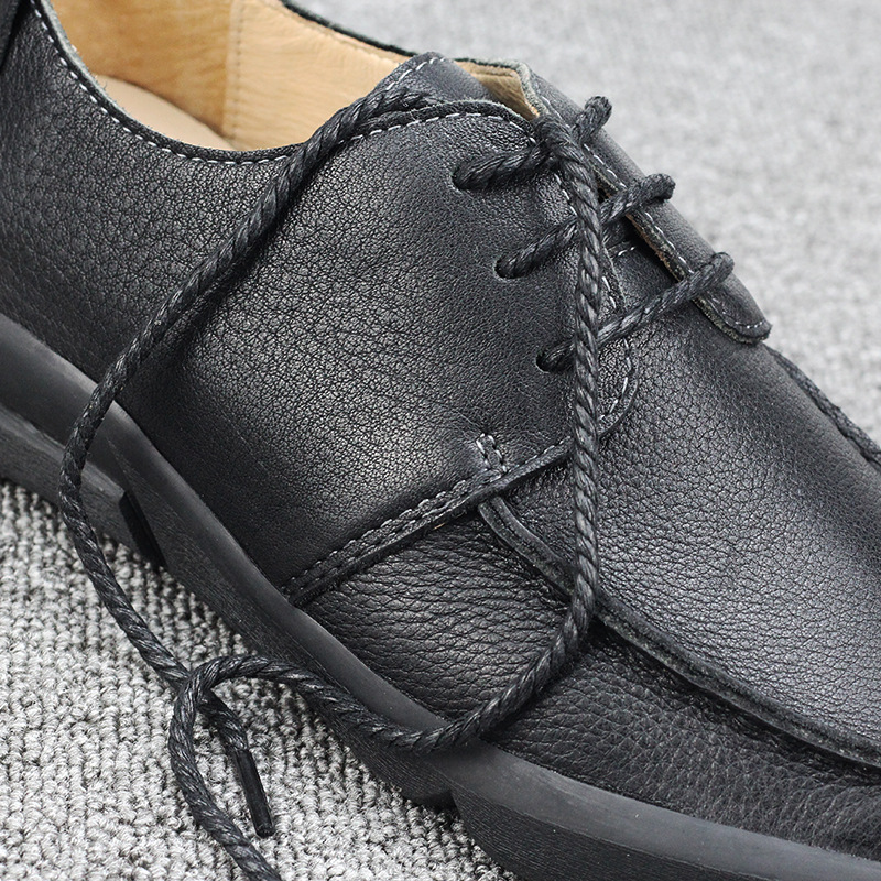 big size Middle aged casual shoes men soft bottom man shoes leather genuine men casual natural leather loafers Leisure shoes in Men 39 s Casual Shoes from Shoes