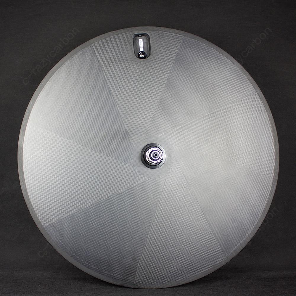 Free Shipping!Track and Road Factory Disc Wheels 700C Carbon Fiber Disc Wheels Bike Clincher/Tubular