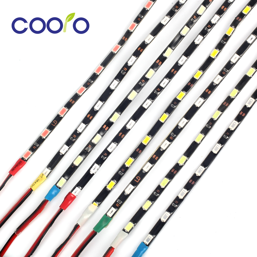 IP67 Narrow Side 4.7mm LED Strip Light 5730 SMD Flexible Fiode Tape Light Black PCB 60leds/m DC12V Led Ribbon