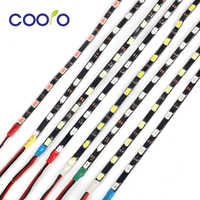 Tira de luz LED IP67 de 4,7mm, lateral estrecho, 5730 SMD, cinta Flexible de fibra de vidrio, luz negra PCB de 60 leds/m, cinta Led DC12V