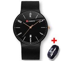 Slim Watch Men New Black Rose Gold Pointer Relogio Masculino Luxury Brand Analog Sports Wristwatch Quartz