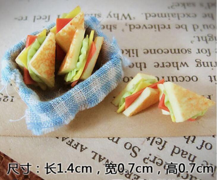 1:12 Cute MINI Dollhouse Miniature Food Accessories Dollhouse Kitchen Food Sandwich