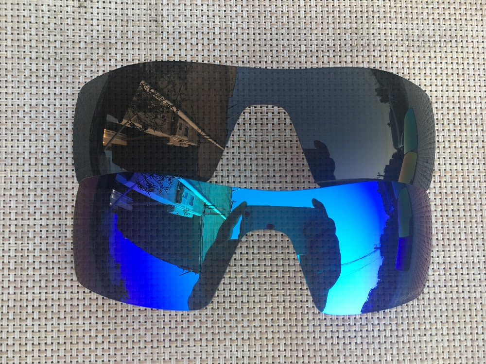 9403d9c2ce ice blue   black Polarized Replacement Lenses for Oil - Rig Sunglasses Lens  Only-2