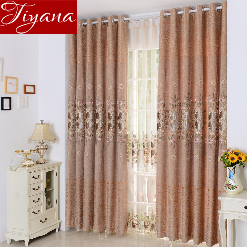 Embroidered Voile font b Curtains b font Window Luxury font b Curtains b font For Living