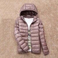 2018 New Winter Warm Ultra Light 90% White Duck Down Jacket Women Down Coat With Bag Women Thin Hooded Autumn Jackets coat Brand
