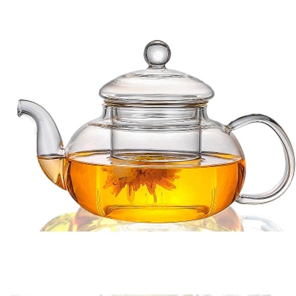 400 / 600 800ml Heat-resistant Glass Teapot Flower kettle Puer Herbal Pot Microwavable Stovetop Safe Tea Onsale Teaware