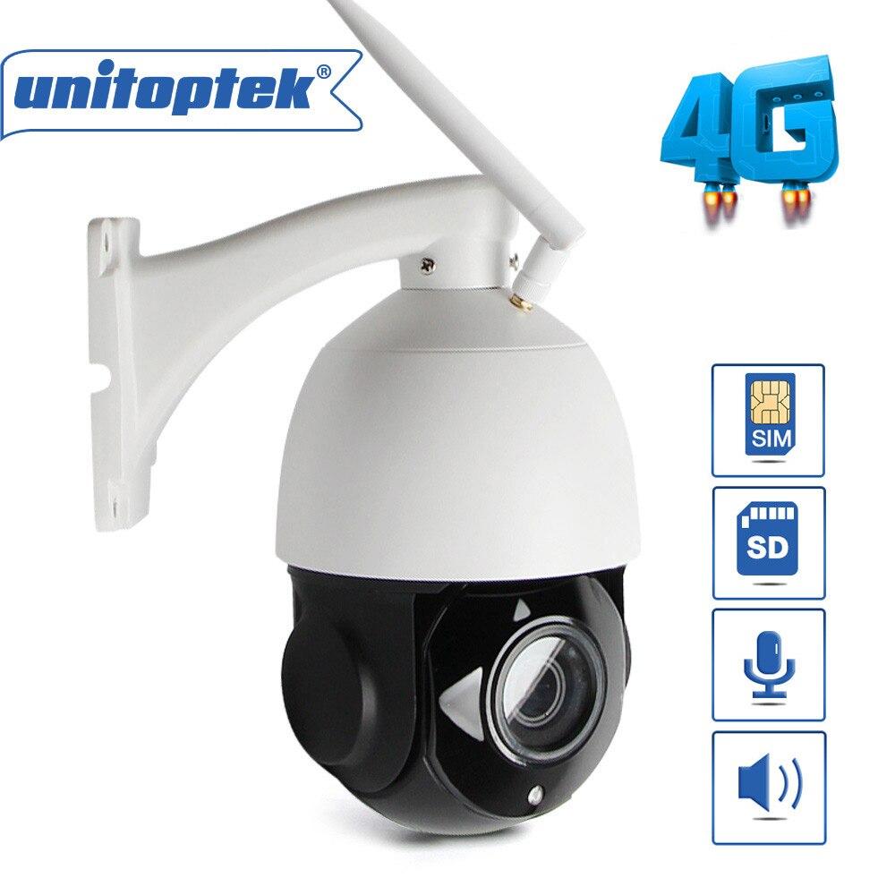 HD 1080 P carte SIM PTZ vitesse dôme 4G caméra sans fil WIFI extérieur 18x 4x Zoom lentille IR 60 M CCTV caméra SD carte Audio + haut-parleur