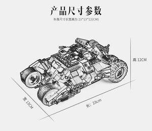 Image 4 - 325pcs Super Hero Batman Race Truck Car Classic Building Blocks Compatible With Lepining Batman DIY Toy Set With 2 Figures