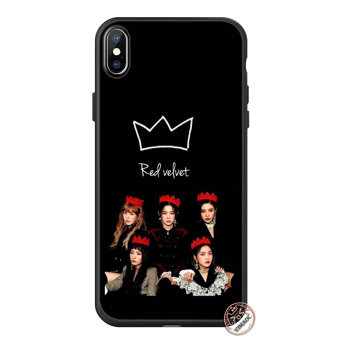 reputable site 8947b f11de US $2.48 17% OFF|YIMAOC Red Velvet Irene SeulGi Soft Silicone Phone Case  for iPhone XS Max XR X 6 6S 7 8 Plus 5 5S SE 10 TPU Black Cover-in Fitted  ...