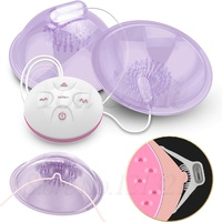 Hands Free Electric Breast Pump Bra Stimulator Massager Tongue Lick Nipple Suction Cups Sucker Vibrator USB Sex Toy for Woman