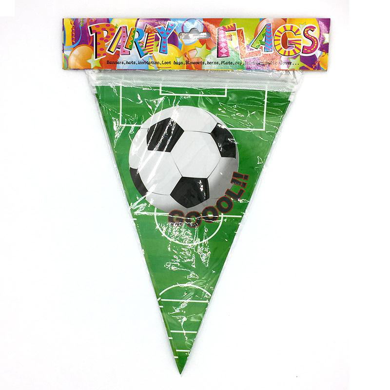 452aada3f176 1set Banners 10pcs small Flags Football theme Baby Birthday Party ...