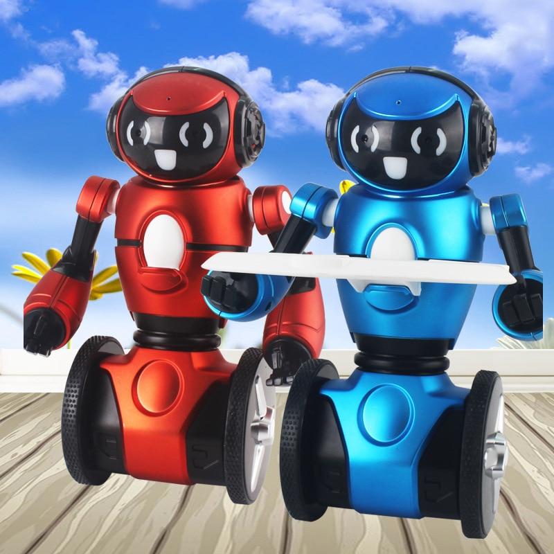 Hot sell Action Figure Fun Gift F1 Lightweight 2.4G Intelligent Balance G-Sensor With Wheelbarrow sing dance RC Robot Toy