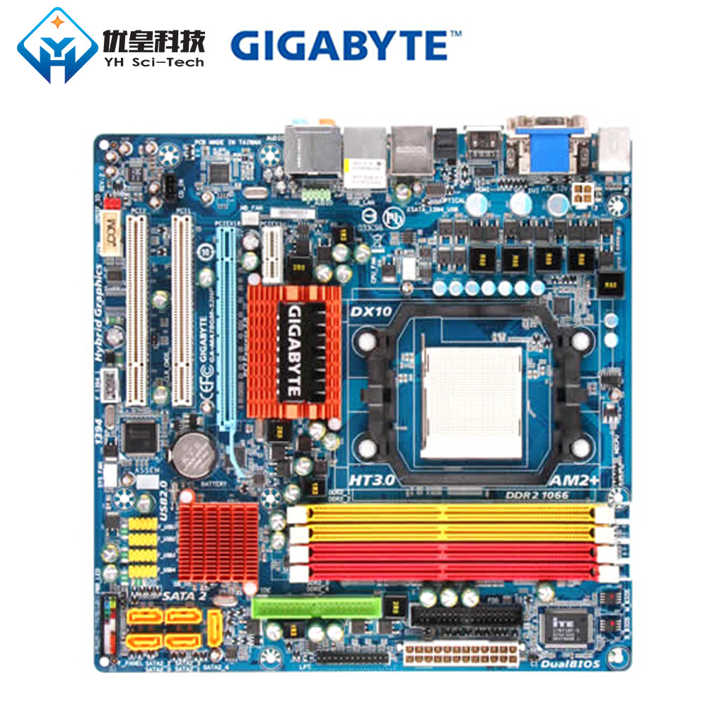 Gigabyte Desktop DDR2 AM2 Phenom 780g-Socket SATA2 GA-MA78GM-S2HP HDMI VGA AMD Micro-Atx