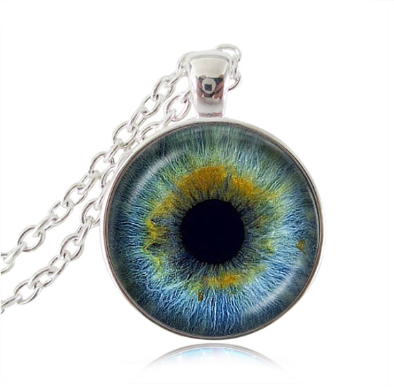 Animal dragon eyeball pendant blue cat eye choker necklace evil eye animal dragon eyeball pendant blue cat eye choker necklace evil eye jewelry silver plated pendant steampunk gothic necklace in pendant necklaces from aloadofball Images