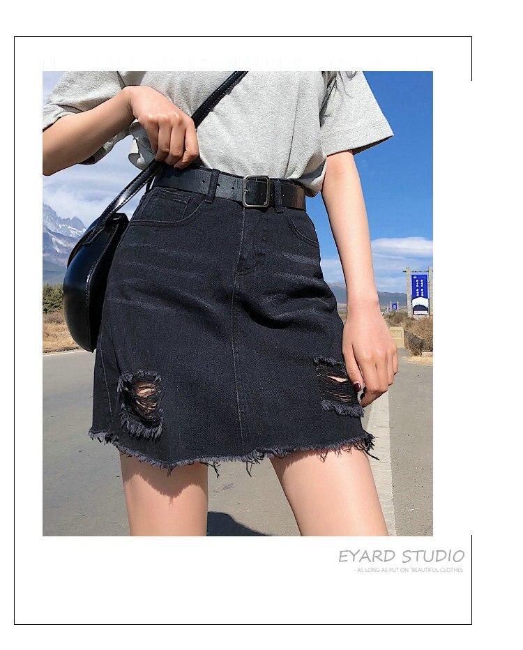 BOBOKATEER Plus Size Denim Skirt Women Skirts Womens Summer Sexy Mini High Waist Black Jean Skirt Female Jupe Falda Fashion 19 9
