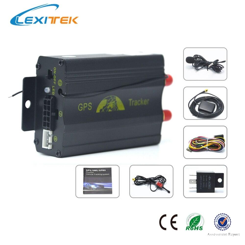 Car GPS Tracker GPS/GSM/GPRS Tracking Device Remote Control Auto Vehicle TK103B Siren Shock Sensor Optional