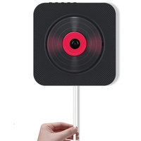 Kustron Wall Mounted Cd Player Portable Home Audio Speaker Prenatal Education Early Education Bluetooth Speaker Usb Drive Play