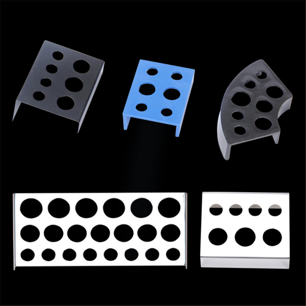 6/7/8/21 Holes Tattoo Ink Cup Holder Stand Makeup Accessories Skin Beauty Trailer Supplies Tatoo Tool Pigment Brack Container