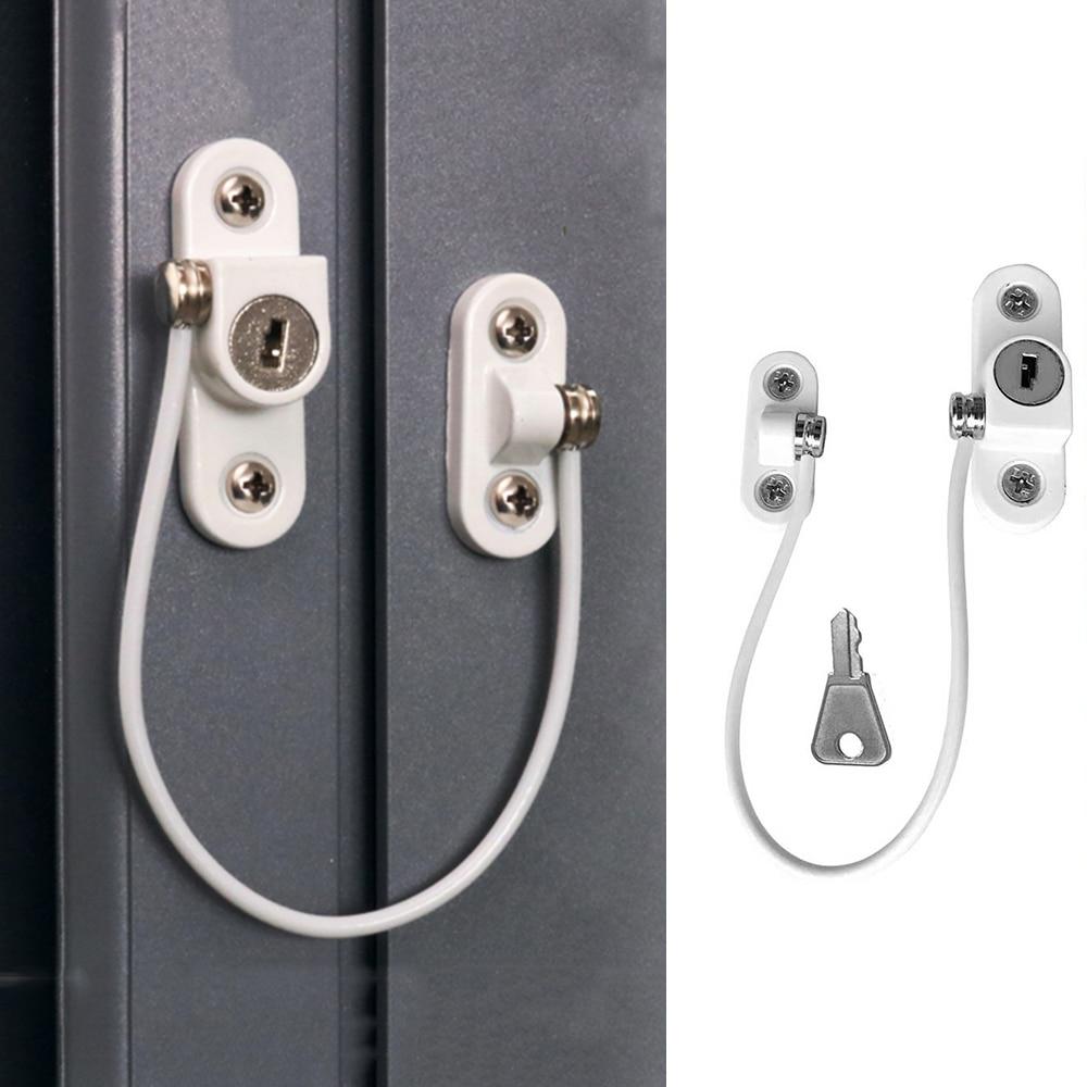 1Pc Baby Door Window Security Lock Window Restrictor Safety Device Key Lock Child Safe Limit Child Safety Doors Locks