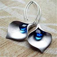 Simple Fashion Lady Boho Ear Hook Ear Teardrop Leaf Dangle Earrings Women 1 Pair Handmade Jewelry Gift Z3M022