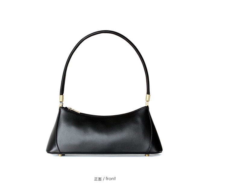 Baguette bag retro vintage small party clutch women 2019 INS girls new spring summer genuine leather shoulder bag brown black-in Shoulder Bags from Luggage & Bags    3