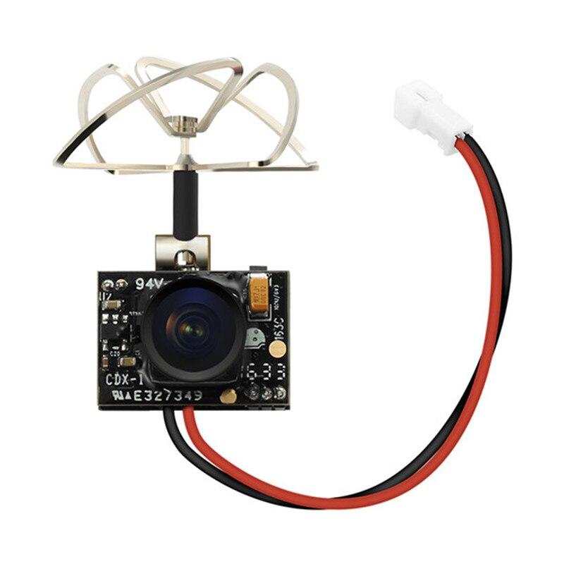 Venta caliente Eachine TX02 Super Mini AIO 5,8g 40CH 200 MW VTX 600TVL 1/4 Cmos FPV cámara para FPV multicopter