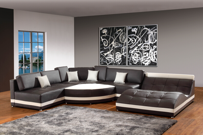 Modern sofa set italian corner sofas for leather sofa set designs sectional sofa-in Living Room ...