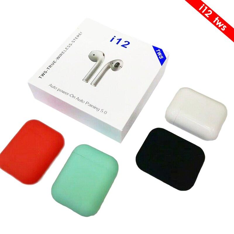 I10/i12 Orecchio TWS 1:1 Aria Senza Fili di Bluetooth 5.0 Auricolare Auricolari Con Scatola di Carico Baccelli Per Ifans iPhone Xiaomi airdot PK i11 i13