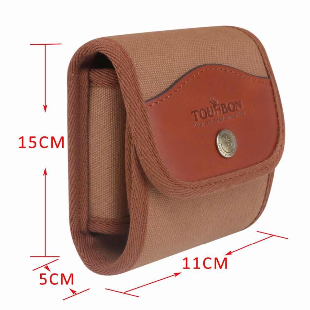 Tourbon принадлежности для охотничьего ружья тактические винтовочные патроны с зажимом патронов холщовая и кожаная сумка для патронов