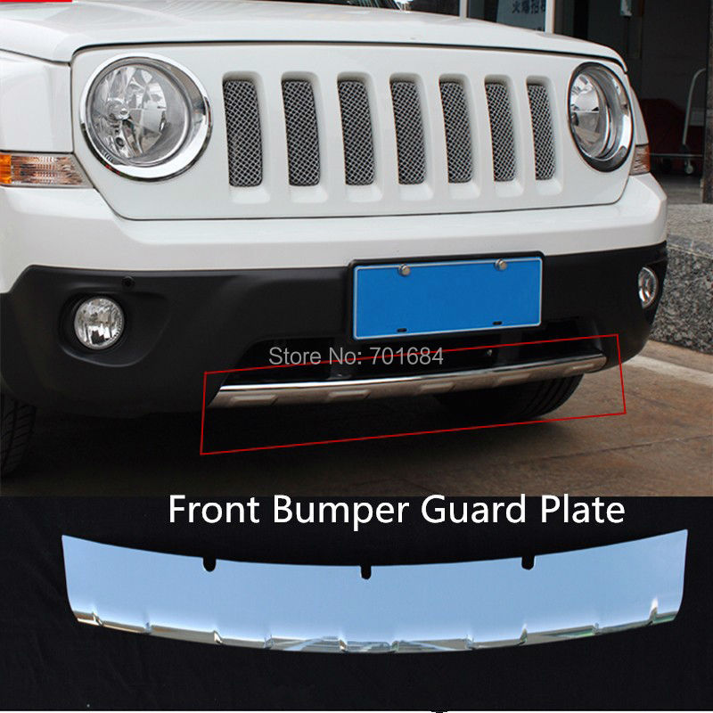 Car ABS Front Bumper Protector Plate Guard Cover For Jeep Patriot  2011 2012 2013 2014 2015 2016 [QP1033] car parts bumper protector guard skid plate for toyota prado fj150 2010 2011 2012 2013
