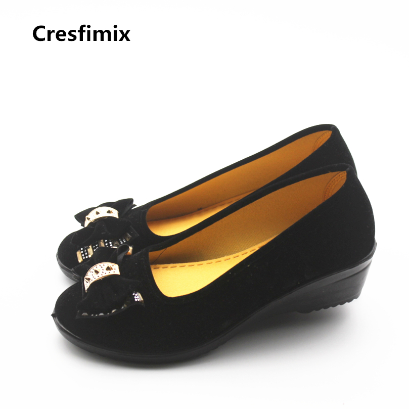 Cresfimix chaussures women cute soft slip on dance shoes lady retro spring & summer work flat shoes black plus size cool shoes cresfimix women fashion street office flat shoes lady cute spring