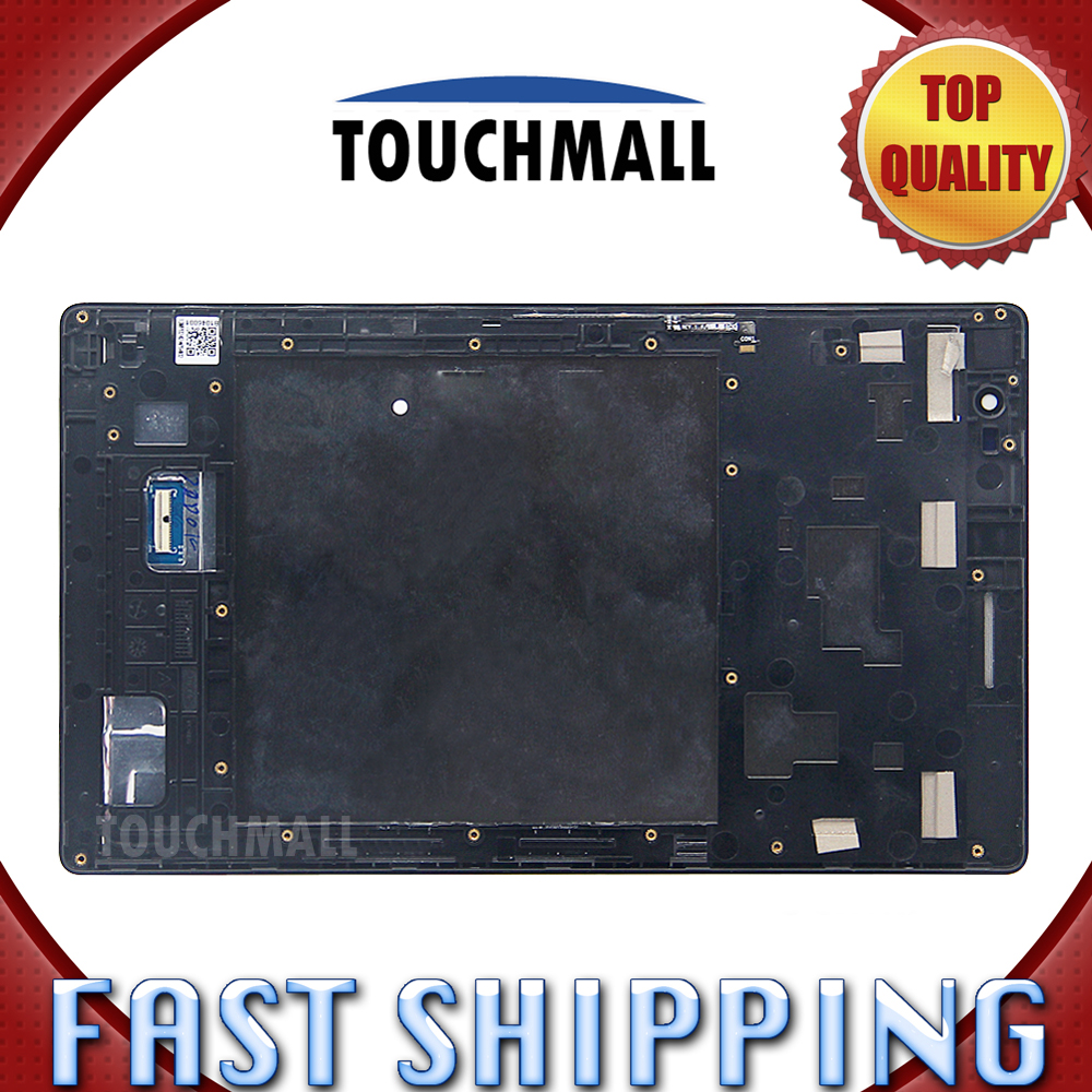 For New LCD Display Touch Screen with Frame Assembly Replacement ASUS ZenPad 8.0 Z380 Z380KL Z380C 8-inch Black Free Shipping original lcd for huawei p7 ascend lcd display touch screen assembly 5 inch lcd replacement without frame free tools