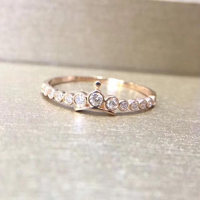 21e5b9a66233 ANI 18 K Blanco oro rosa (AU750) anillo de compromiso Natural certificado I  J SI 0