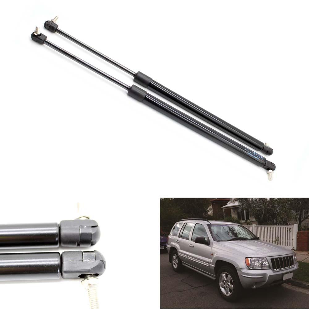 2ks auto zavazadlový prostor vzpěry plynové vzpěry tlumiče vzpěry tlumiče auto zvedání podporuje pro Jeep Grand Cherokee WJ 1999 2000- 2004 18,43 palců