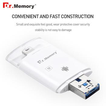 Dr.Memory Card Reader For Iphone TF Card Metal usb SD Card Reader Support PC Android Usb Card Reader 128GB Usb Sd Adapter 64GB