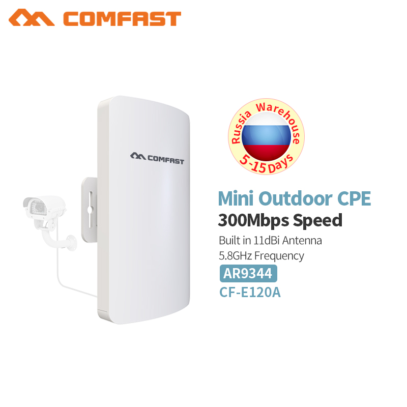 Comfast CF-E110N 5GHz 300Mbps Wireless Outdoor Access Point,Wi-Fi Repeater for Outdoor Long Distance Wifi Coverage,Easy Setup цена