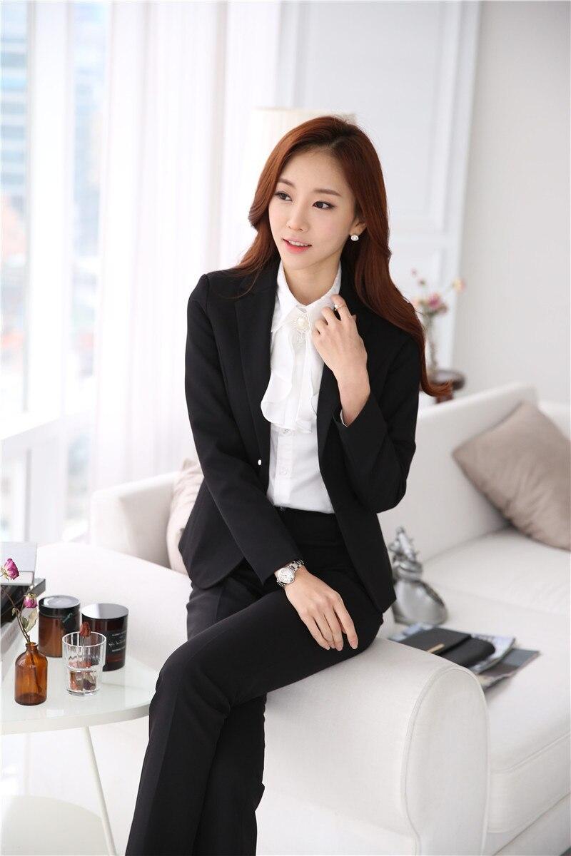 4xl Professionale Carriera Di Giubbotti Inverno Del Set Blue Giacche black Formato Il Più Usura Autunno Dark Formale Pantaloni Con Lavoro Abiti Bellezza Salone E qaEAACw