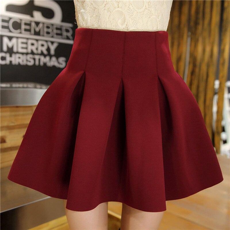 0ece9d3db6384d Φ_ΦXS-4XL Taille Haute Femmes Espace Coton Plissé robe de Bal Jupe ...