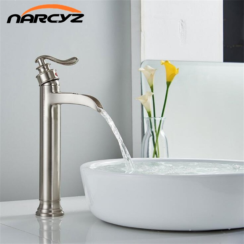 New Basin Faucets Modern Bathroom Mixer Tap Brass Washbasin Faucet Single Handle Single Hole Elegant Crane For Bathroom XT-411 комплектующие для раковин hangzhou elegant bathroom 88888