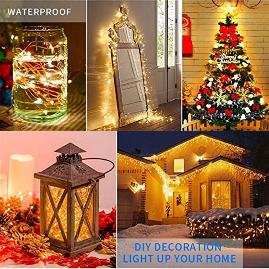Multi Color Christmas Lights String of 100 Electric Tree Home Decoration