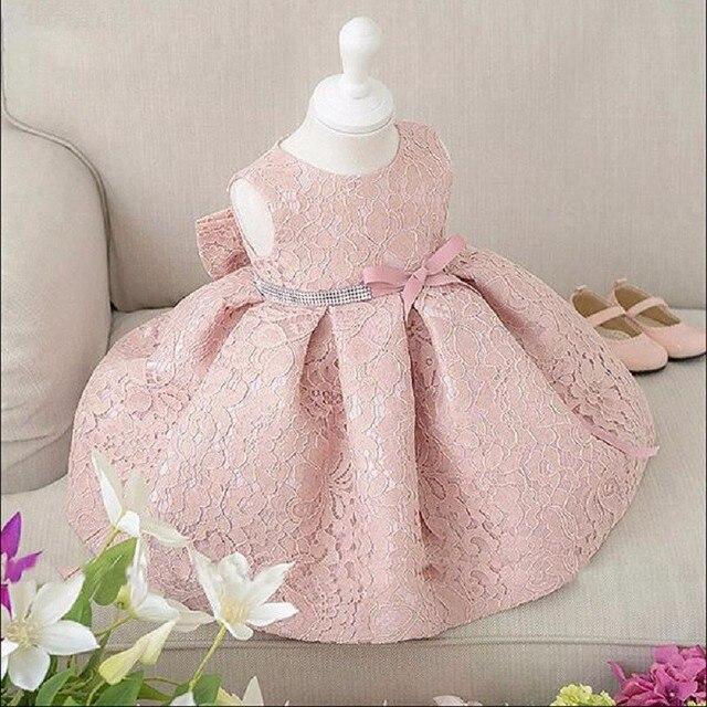 New Baby Cô Gái Sinh Nhật Váy Bóng Gown Christening Dresses 1 Năm Cô Gái Sinh Nhật Bé Ăn Mặc Baby Girl Dress